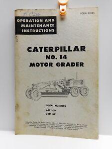 Vintage - CATERPILLAR  NO.14 MOTOR GEADER - Operations & Maintenance Manual 1955