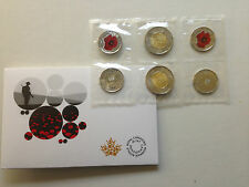 2015 Canada REMEMBRANCE Coin Pack IN FLANDERS FIELDS AND POPPY