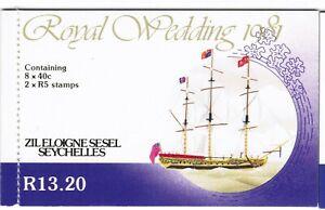 Seychelles Zil Elwannyen Sesel 1981 SG SB1 SG30a 31a Royal Wedding Booklet