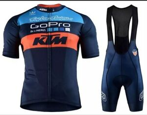 NEW Short Sleeve Men's KTM TEAM CYCLING JERSEY with Shorts Bib Suit Road Cycling