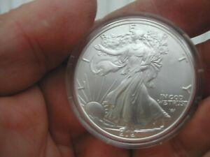 2021 ASE 1 OZ .TYPE 2 .999 Silver BU American Silver Eagle in Capsule