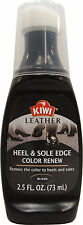Kiwi Leather Black Heel & Sole Edge Color Applicator - Water Resistant 2.5 fl oz