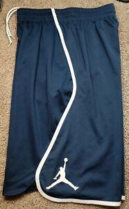 NIKE DRIFIT AIR JORDAN-Slate Blue Poly, Mens Athletic, Basketball Shorts-(M)