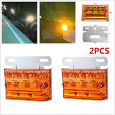 2PCS 12/24V DC 20 LED Marker Indicator Light Clearance Lamp Amber for Truck Boat