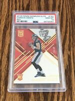 2016 Donruss Elite Carson Wentz Red /49 PSA 10 RC Gem Mint POP 1 Rookie