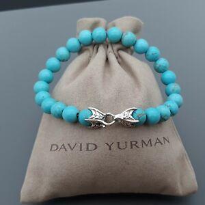 David Yurman Men's Spiritual Bead Bracelet with Turquoise - 8.5 inches