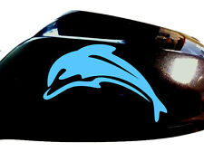 Dolphin Car Sticker Wing Mirror Styling Decals (Set of 2), Ocean Blue