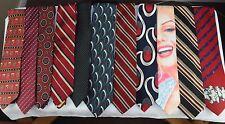 Men's Vintage Classic Tie Lot Wide Skinny Variety Colors & Brands 25 ties
