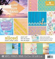Scrapbooking Crafts 12X12 Paper House Pad New Designs Beach Sliced Ocean Sand ++