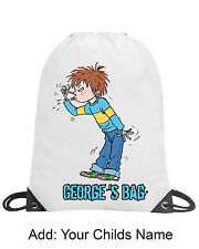 Boys Horrid Henry Personalised Gym Bag Swimming Bag PE Bag School Nursery Gift
