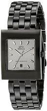Men's Square Shape Black Steel Bracelet Watch w/ Date by Gino Franco