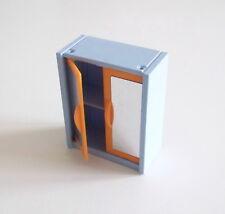 PLAYMOBIL (R231) MAISON MODERNE - Armoire Bleue & Orange Chambre Parents 4284