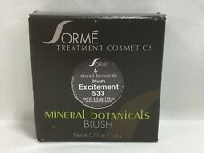 Sorme Mineral Botanicals Blush 'Excitement 533' 0.11oz / 3.4g New C25 Aa