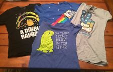 Hot Topic Bubba Gumption T Shirts Lot of 4 Small And Medium Pre-Owned