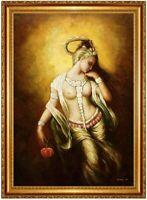 Ölbild erotische Frau, Akte, nackte Frau, Ölgemälde HANDGEMALT, Gemälde 60x90cm