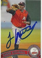 Jared Mitchell 2011 Topps Pro Debut Signed Card