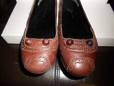 Balenciaga ARENA Brown Leather Stud Ballerina Ballet Flat Shoes 35 EU $545