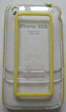 iPhone 3G/3GS clear Hard Case.Belkin.Halo acrylic case,2 piece with Yellow trim