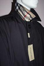 NWT Mens Burberry London $1200 Dark Navy Blue Coat Size XL