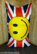 ZIPPY HUGE SMILEY UNION JACK WATERPROOF BEAN BAG FLOOR CUSHION garden beanbag