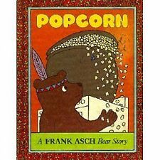 Popcorn a Frank Asch Bear Story HB 1979 1st ed., Like NEW Out of Print