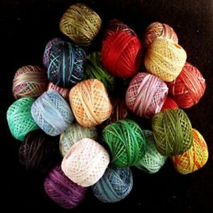 M60 - M82 Valdani Perle Cotton Size 12 Embroidery Thread Variegated Hand Dyed