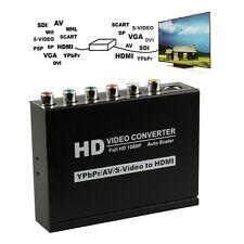 1080P Composite S-Video Ypbpr CVBS R/L Audio to HDMI Converter HDTV AV Adapter
