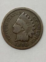 1885 INDIAN HEAD CENT PENNY ABOUT GOOD 95/% COPPER COIN CIRCULATED GRADE AG