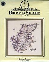 Scottish Regions Highland Cross Stitch Kit | Britain in Stitches | 35.5cm x 35cm