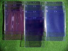 10 PVC EXTRA LARGE Plastic Pocket Wallet, ID Card Pass,Passport Holder,Vertical
