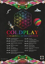 COLDPLAY - A HEAD FULL OF DREAMS TOUR - 6 POSTER COLLECTION - LOOKS GREAT FRAMED