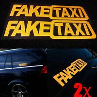 2Pcs Removable FAKE TAXI Car Sticker Decal Emblem Self Adhesive Vinyl DIY Funny