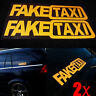 2Pcs Removable FAKE TAXI Car Sticker Decal Emblem Self Adhesive Vinyl DIY Funny