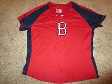 Boston Red Sox MLB Nike Baseball Jersey Womens LG L 12-14