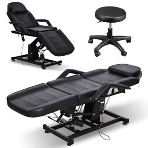 Electric Massage Table Spa Salon Facial Tattoo Bed Beauty Barber Chair w/ Stool