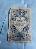 AUSTRIA 1888 1 GULDEN / 1 FORINT BANKNOTE