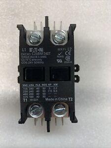 EATON C25BNF240T, 40 AMP 2 POLE DEFINITE PURPOSE CONTACTOR, Coil 24VAC