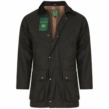 Mens GREENBELT Country Wear Padded Wax Cotton Hunting Jacket Quilted Riding Coat