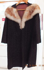 1960 Vintage Astra Furs Brown Coat