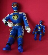 "Bandai Blue Power Ranger Figurine Set (14"" & 6"" Figures)"
