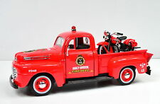 HARLEY-DAVIDSON 1936 El Knucklehead 1:24 su Ford F-1 Pick-Up 1:24 Pompieri