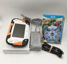 Incomplete Nintendo Wii U 8GB White Console Gamepad AC Adapter & 2 Games