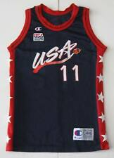 L Youth Champion Karl Malone USA Olympic Basketball Jersey Blue Red White