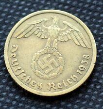 WW2 10 REICHSPFENNIG A 1938 COIN WW2 THIRD REICH GERMANY HITLER ERA  /83