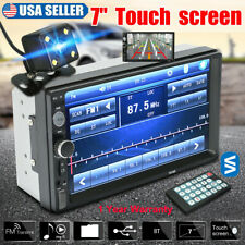"Car Stereo Radio Double 2 DIN 7"" HD MP5 MP3 FM Player Touch Screen Mirror link"
