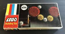 EARLY VINTAGE LEGO LEGOS 001 GEARS SET W/ BOX BY SAMSONITE