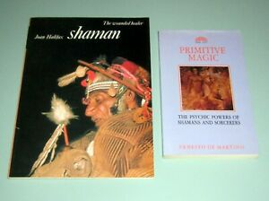 2 Book SHAMAN WOUNDED HEALER SHAMANISM Psychedelic Primitive Magic Psychic Power