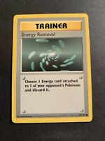 Pokémon 1st Edition Shadowless Trainer Energy Removal Base 92/102 1999 Wizards
