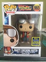 Funko Pop Marty Checking Watch #965 SCE SDCC 2020 Exclusive Back To The Future