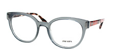 Prada Eyeglasses VPR 06T c. TKY1O1 in Gray & Coral Striped Havana 50mm